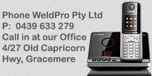 Weldpro - Gracemere servicing Rockhampton and Central Queensland - for all your welding needs